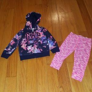 EUC GAP Girl's Size 2T Pink Jogger Set